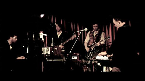 The band at the Komedia, Brighton